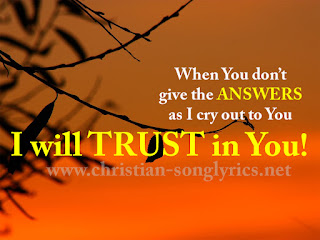 I will trust in you!