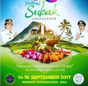 Saksikan Festival Subak Karangasem 2017 Di Bali