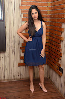 Radhika Mehrotra in a Deep neck Sleeveless Blue Dress at Mirchi Music Awards South 2017 ~  Exclusive Celebrities Galleries 102.jpg