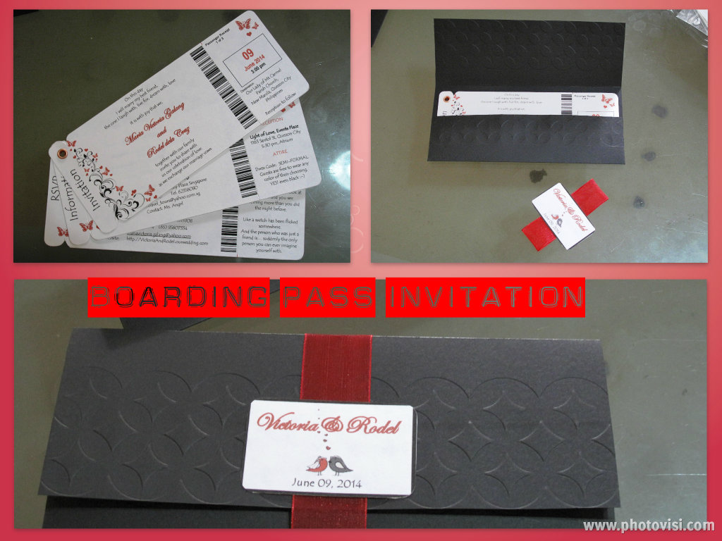 DIY Project: Wedding Invitation (Boarding Pass) - The Adventures of ...