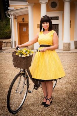 Žluté šaty na léto