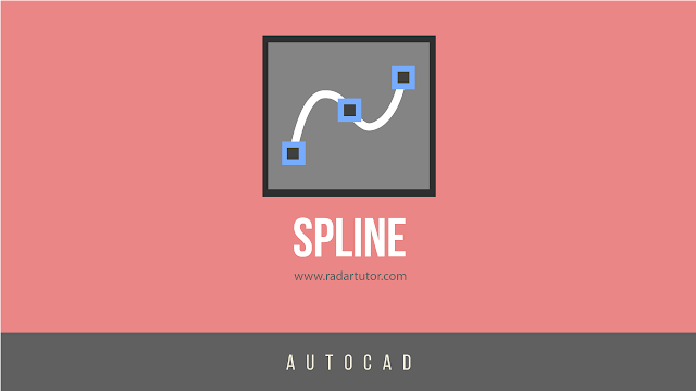 AutoCAD drawing tools: Spline Fit and Spline CV