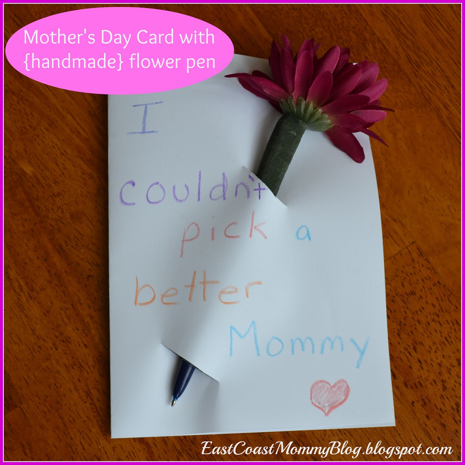 East coast mommy simple mother 39 s day card for Simple gifts to make