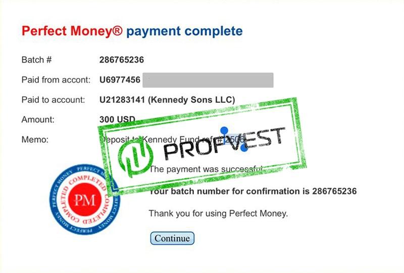 Депозит в Kennedy Fund