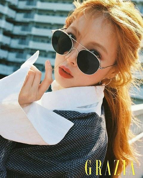 ✰PHOTO✰ Hyuna dla magazynu Grazia
