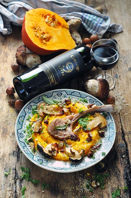 Polenta d'automne et côtelettes grillées au beurre de sauge...