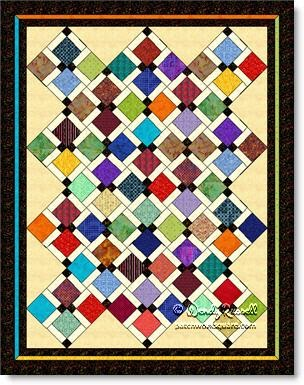 Mosaic quilt © W. Russell, patchworksquare.com