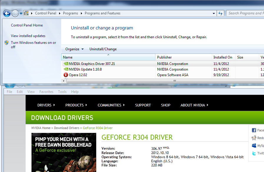 Choosing updated drivers for Nvidia 310M Optimus (Lenovo Ideapad Z360)