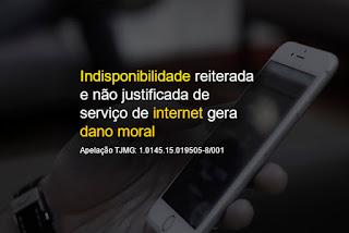 Indisponibilidade internet indenizacao dano moral advogados escritorio advocacia patos de minas mg