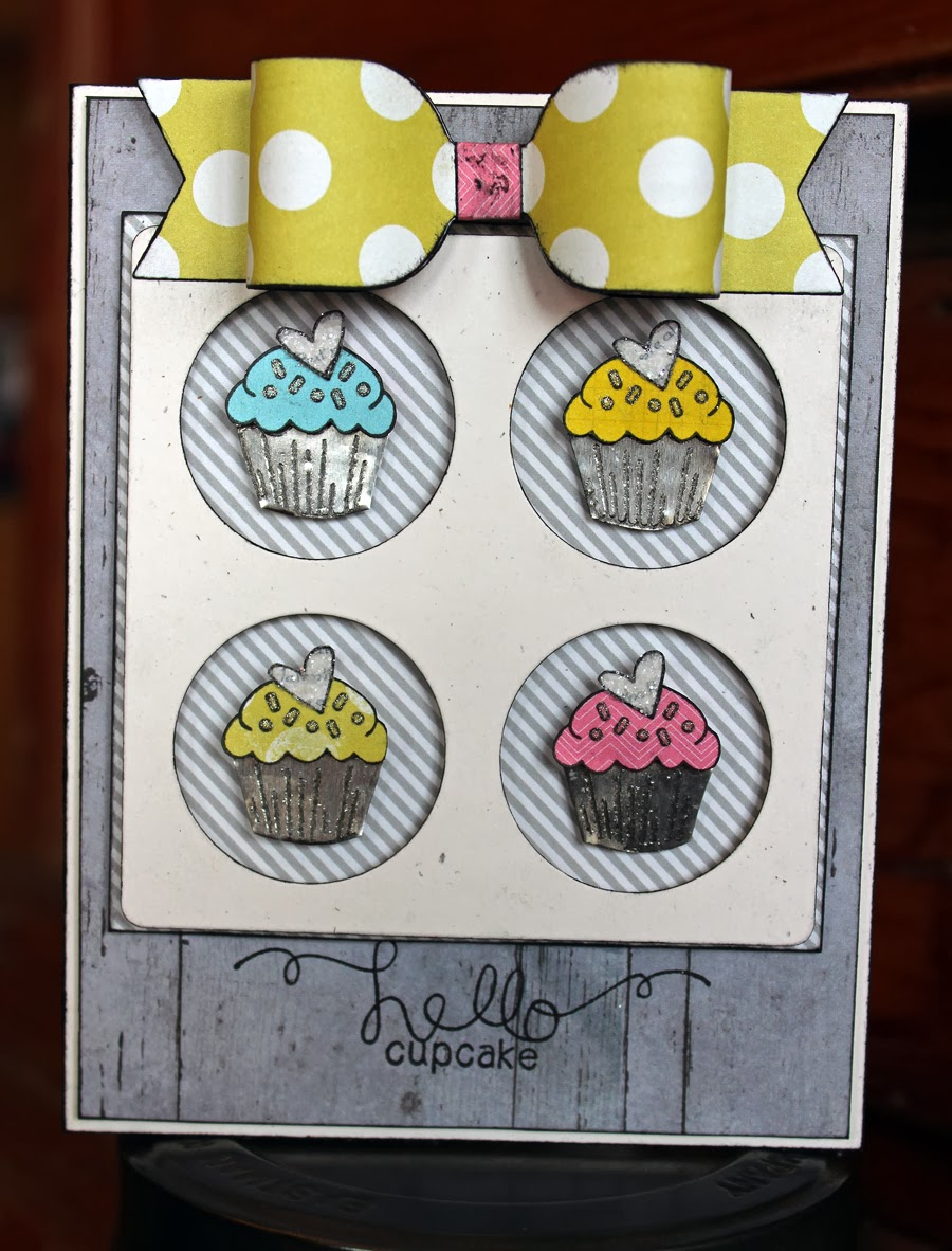 Cupcake Card by Larissa Heskett for Newton's Nook Designs