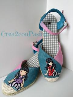 Zapatos-esparto-Gorjuss-pintura-en-tela-Crea2-con-Pasión