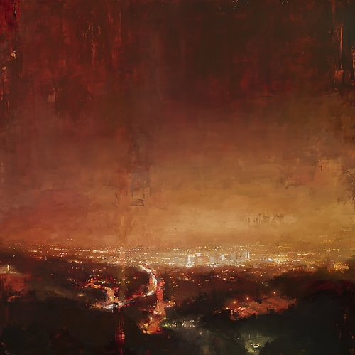 17-Los-Angeles-Jeremy-Mann-Figurative-Painting-in-Cityscapes-Oil-Paintings-www-designstack-co