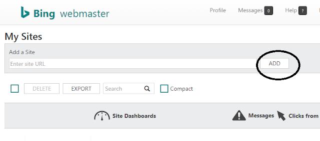 bing webmasters tools