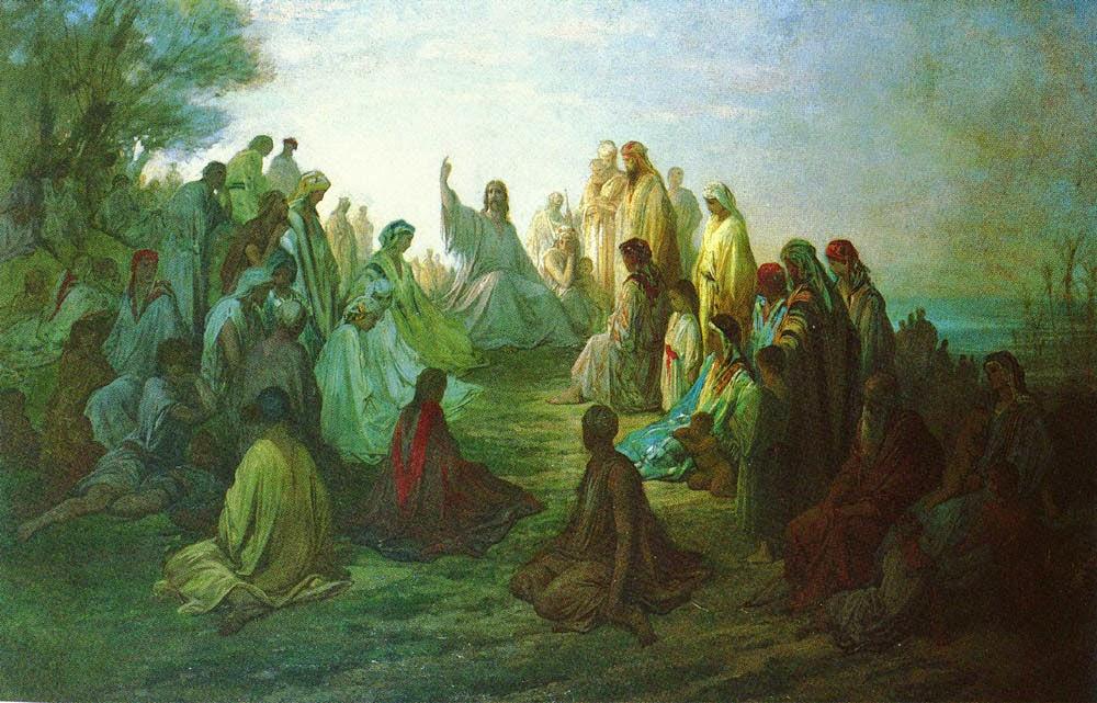 Jesus Pregando no Monte - Gustav Doré e suas pinturas ~ Pintor, desenhista e inlustrador francês