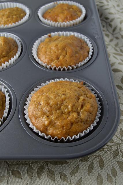 Pumpkin, Apple and Banana Muffins