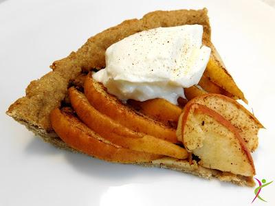 tarta z jabłkiem, tarta bez masła, amarantus