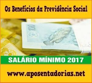 Valor da contribuição previdenciária mínima em 2017