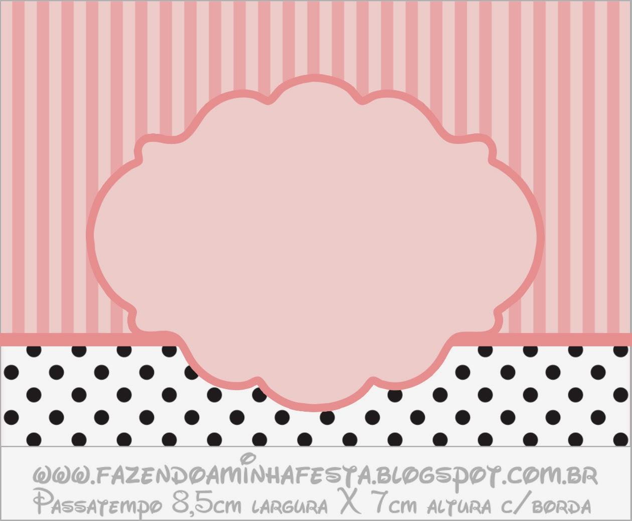Mae Wall Stickers Rayas Rosa Y Lunares Negros Etiquetas Para Candy Bar Para