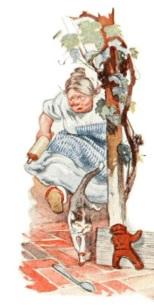 Mouser y la cocinera persiguen al hombre de jengibre