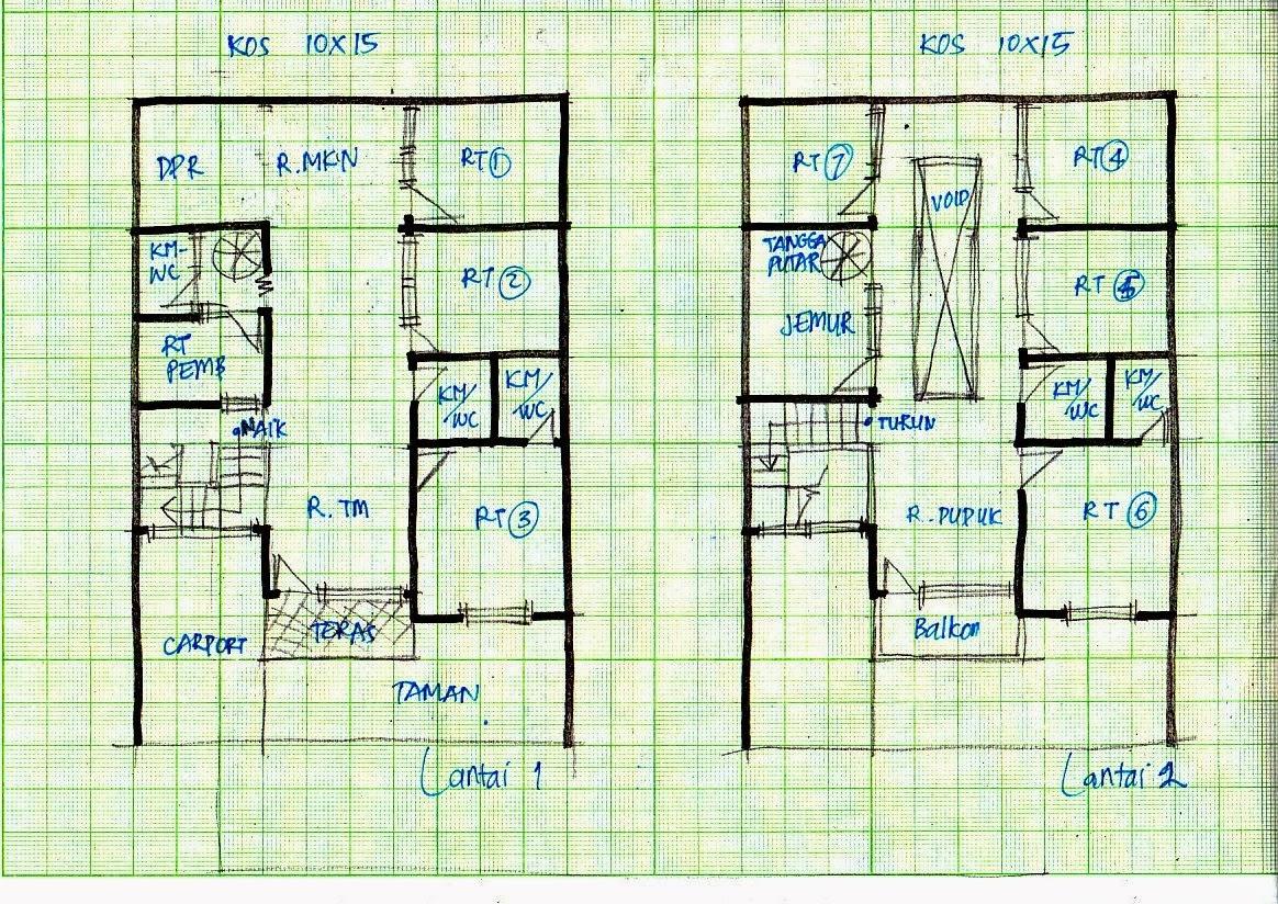 Desain Rumah Minimalis 2 Lantai Ukuran 10X15 - Foto Desain ...