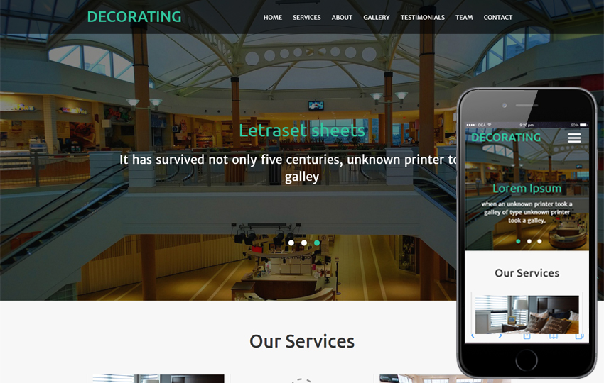 Decorating An Interior Category Responsive Web Template