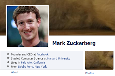 Mark Zuckerberg on Facebook