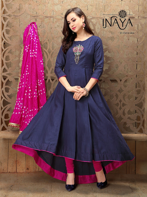 Inaya Libas Studio Handwork designer 3 Party wear Indo kurtis