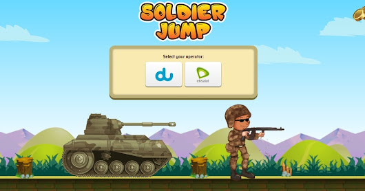 AE - Soldier Jump / Mainstream - Banner & Redirect - DU , Etisalat - a store