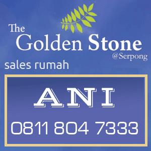 sales rumah golden stone serpong