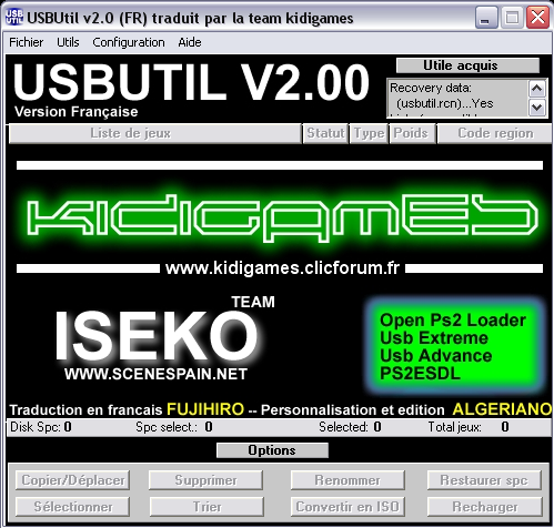 usbutil ps2 gratuit 01net