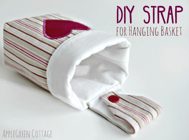 How to make straps for hanging baskets and how to turn DIY baskets into wall hanging baskets and bins.