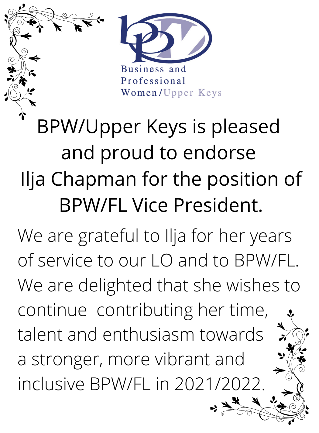UPPER KEYS ENDORSES ILJA CHAPMAN!