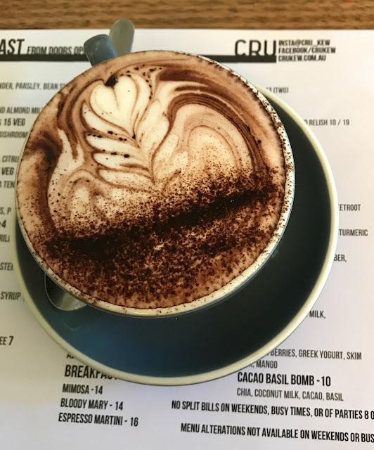 Cru, Kew, hot chocolate