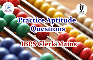 Aptitude Questions (Arithmetic) for IBPS Clerk Mains