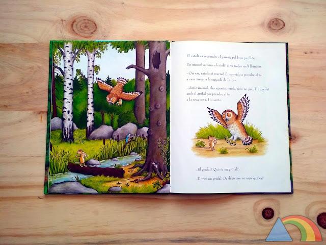 Interior del libro El Grúfalo