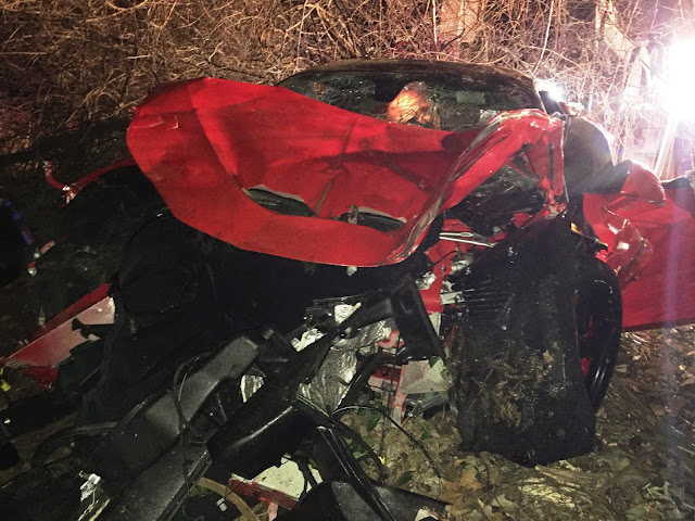 Ferrari 458 Speciale Destroyed In Texas After Crashing Into 40ft Ravine