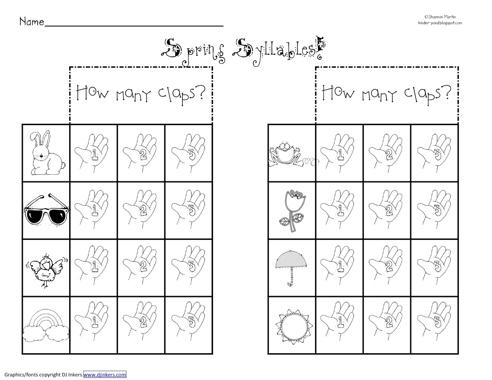 C Closed Syllables Worksheets
