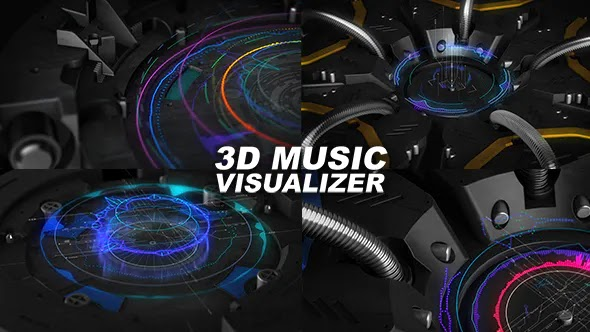 3D Music Visualizer 18328303 Videohive