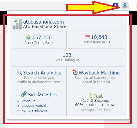 Cara Pasang Alexa Rank Dengan Mudah Melalui Extension Google Chrome