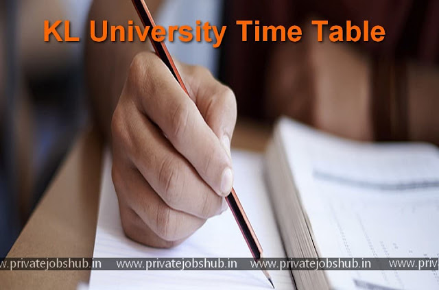KL University Time Table