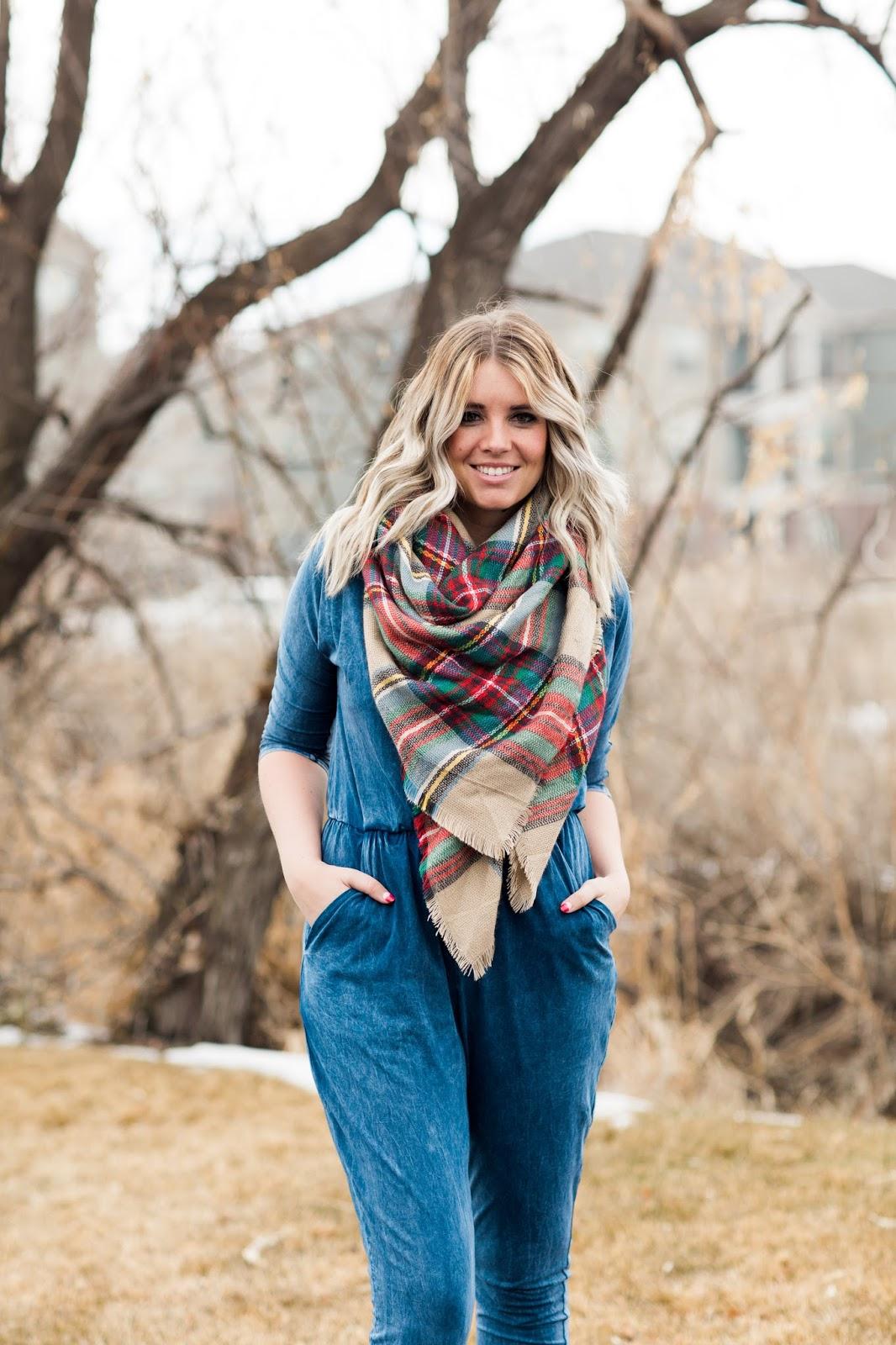 Brina Box, Utah Fashion Blogger, Denim Jumpsuit