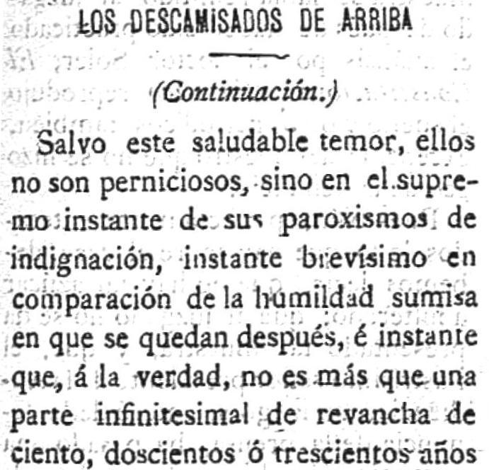 Fragmento de la segunda entrega publicada en La Unión Democrática