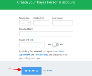 Payza-account-get-started-page