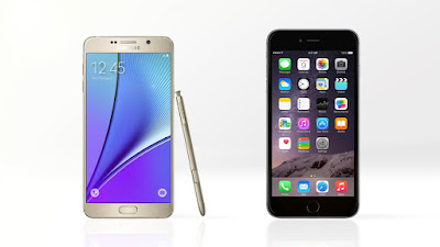 perbandingan note 5 dan iphone 6