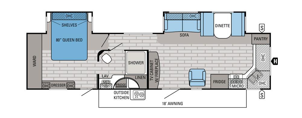 5th wheel bunkhouse outdoor kitchen cabinets denver popular travel trailer floor plans - camping world