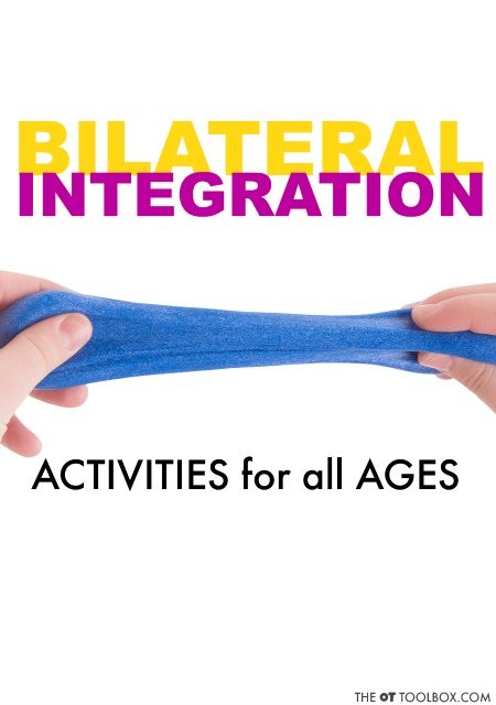 Try these bilateral integration activities and coordination ideas to promote use of both hands together in activities such as handwriting, cutting with scissors and so many other tasks!