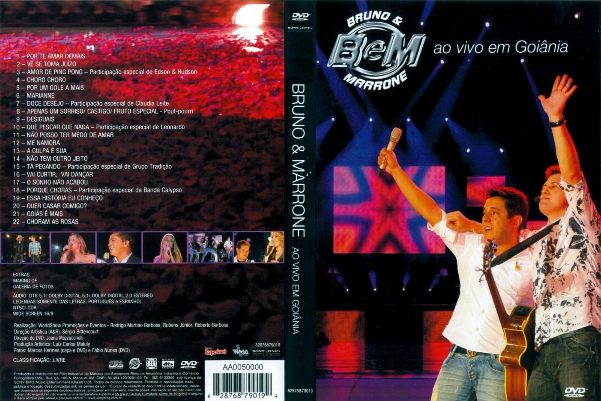 E GOIANIA MARRONE DO BAIXAR BRUNO EM DVD