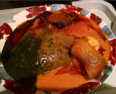Image result for images of amala and meat
