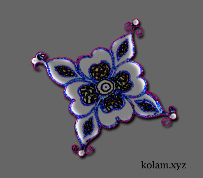 simple kolam patterns