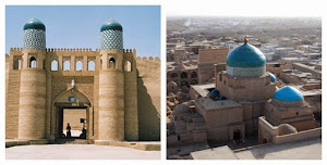 Khiva (left) and Pakhlavan Makhmud (right)
